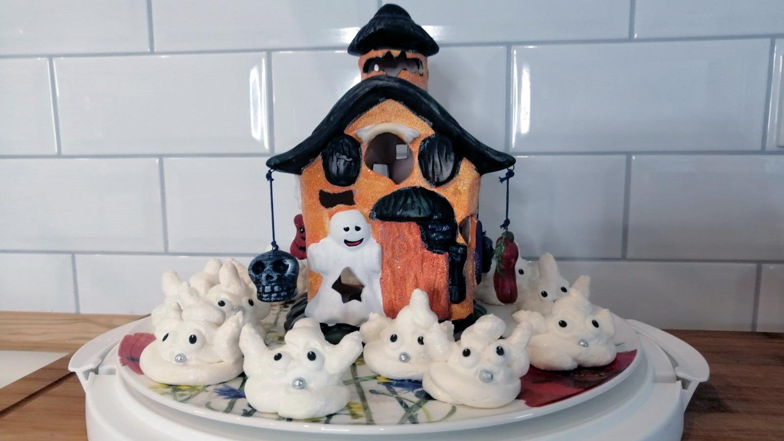 Baiser Geister Rezept für Halloween Geister