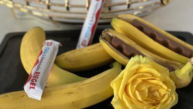 Banane mit Schokoriegel zum grillen