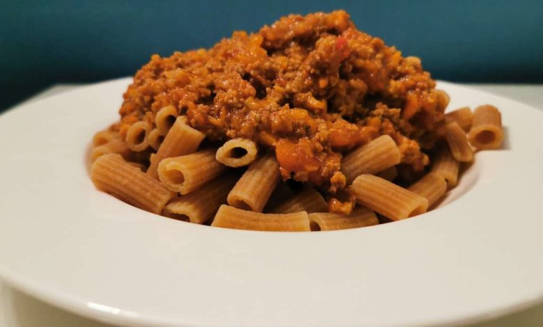 Bolognese Sauce mit Low Carb Nudeln