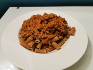 olognese Sauce mit Low Carb Pasta