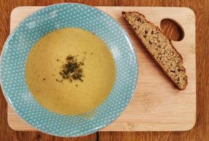 Kartoffel-Rosenkohl-Suppe