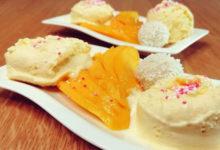 Mangoeis Rezept für die Eismaschine (mit Thermomix und Kitchenaid) ohne Zucker