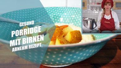 Gesundes Frühstück zum Abnehmen: Porridge mit Birnen