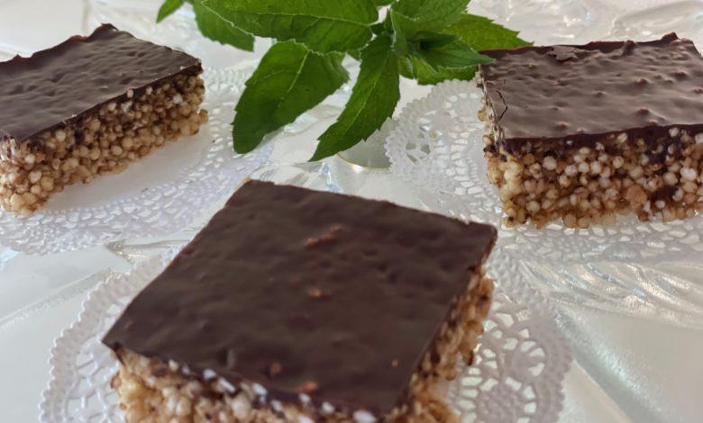 Quinoa Riegel mit Schokolade Dessert