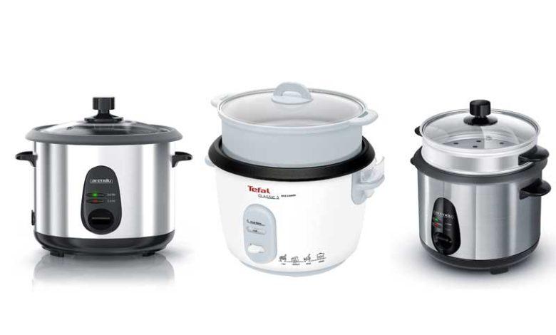 Reiskocher mit Dampfgarer