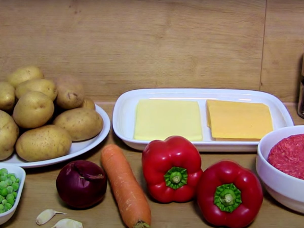 super leckeres Kartoffelgratin mit Rinderhack und Käse