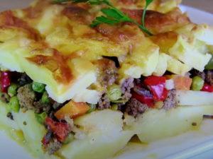 Bild vonRezept für ein super leckeres Kartoffelgratin mit Rinderhack und Käse