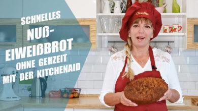 Photo of Schnelles Nuß-Eiweißbrot ohne Gehzeit mit der Kitchenaid